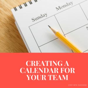 Creating a Calendar for Your Team